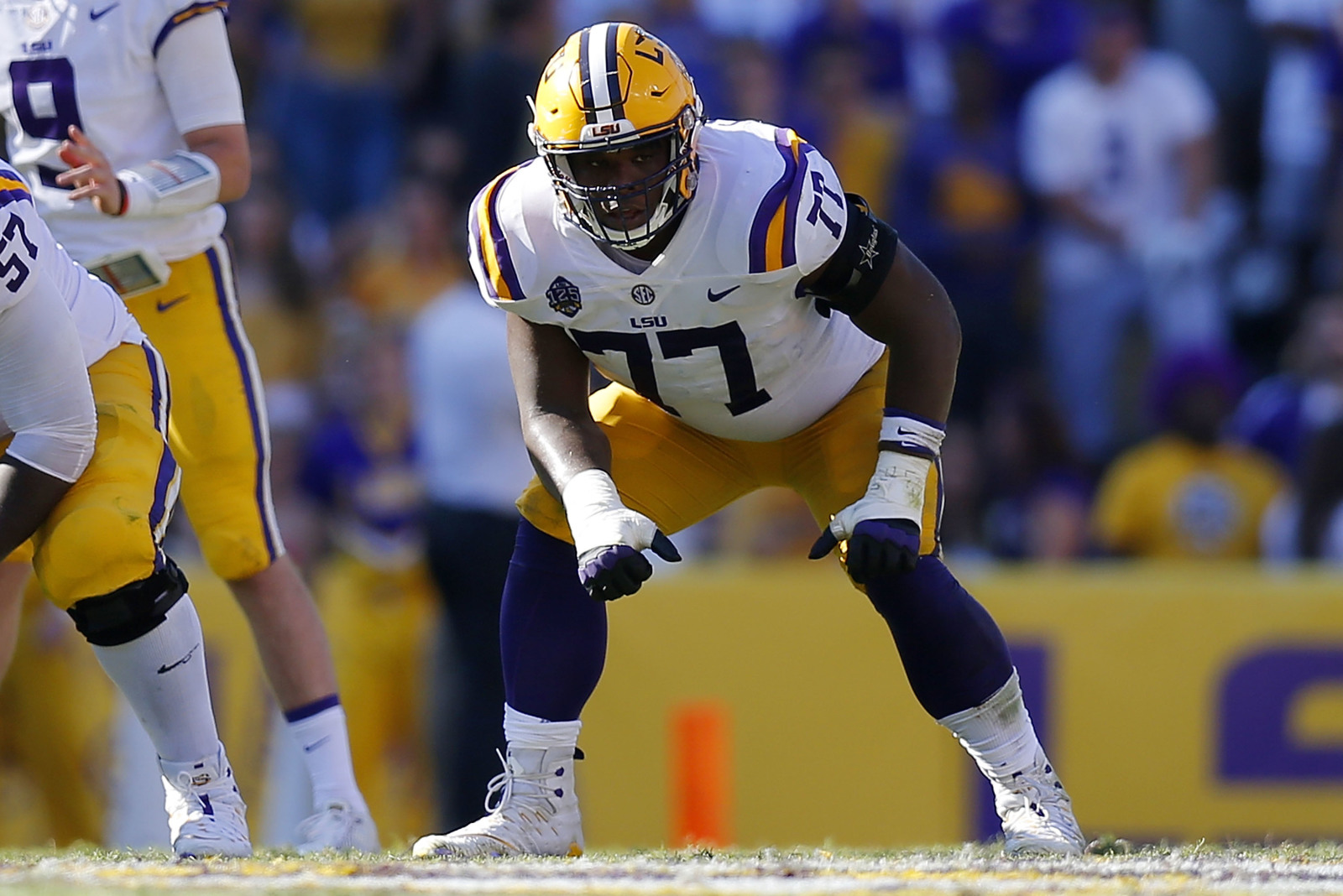 Redskins reportedly interviewed LSU tackle prospect Saahdiq Charles