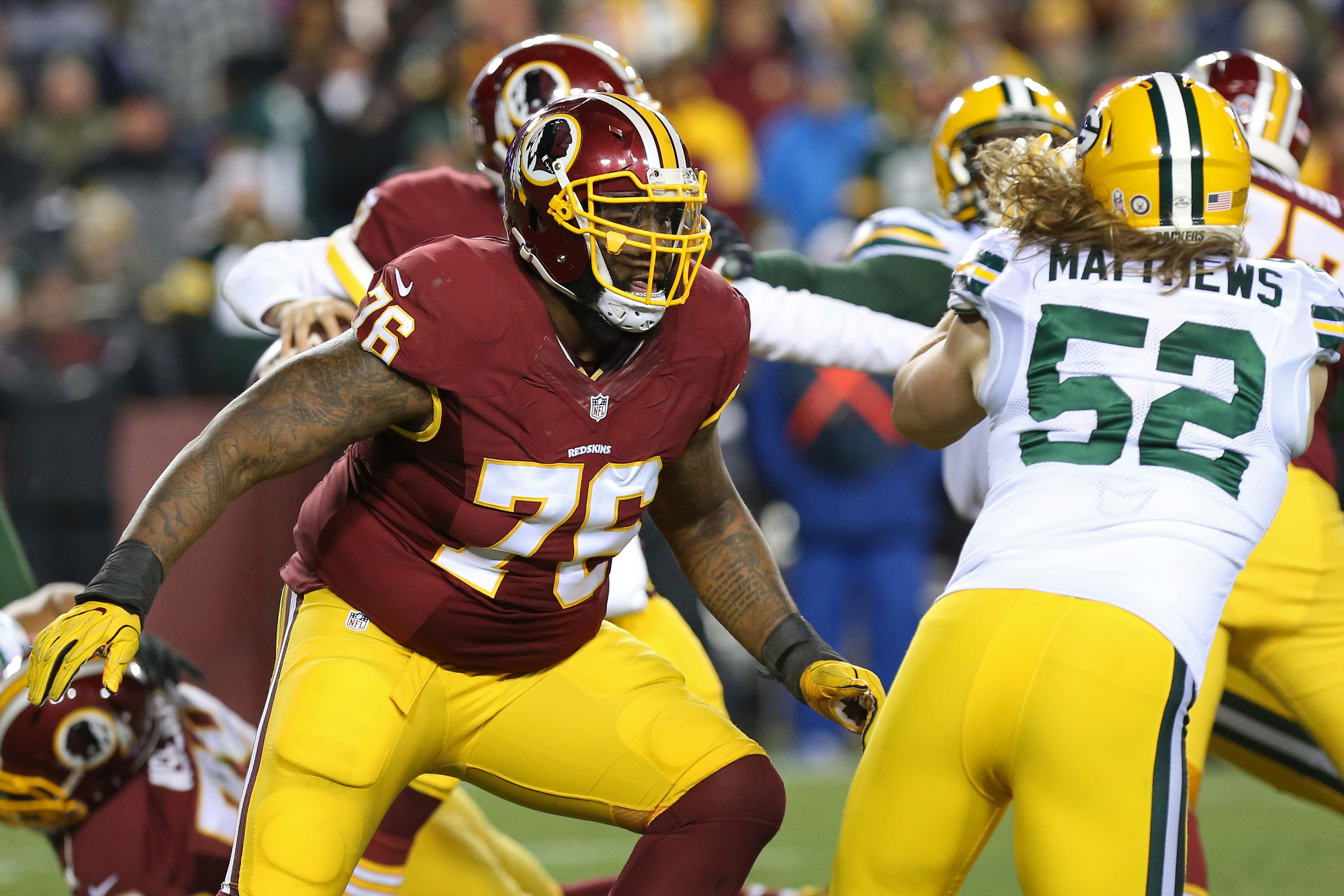 Trent Williams looks to lead young improving Redskins offensive